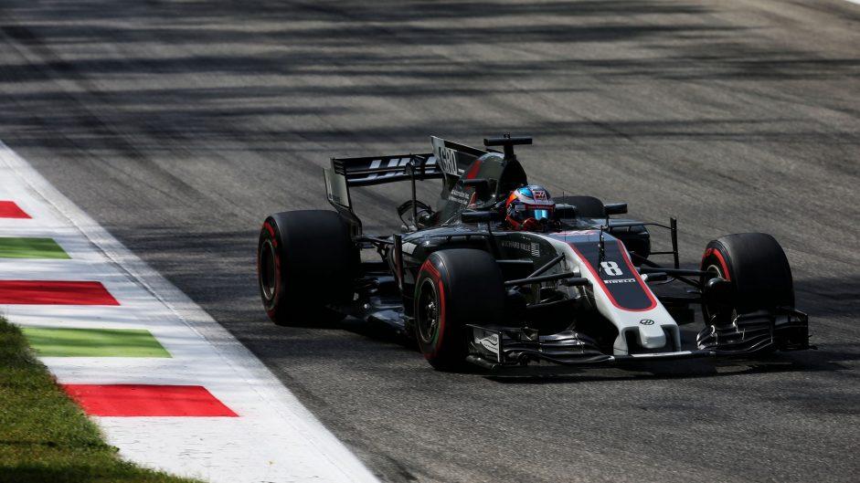Romain Grosjean, Haas, Monza, 2017