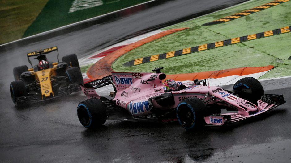 Sergio Perez, Force India, Monza, 2017