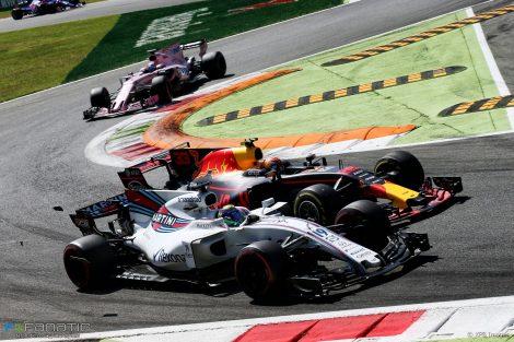 Felipe Massa, Max Verstappen, Monza, 2017