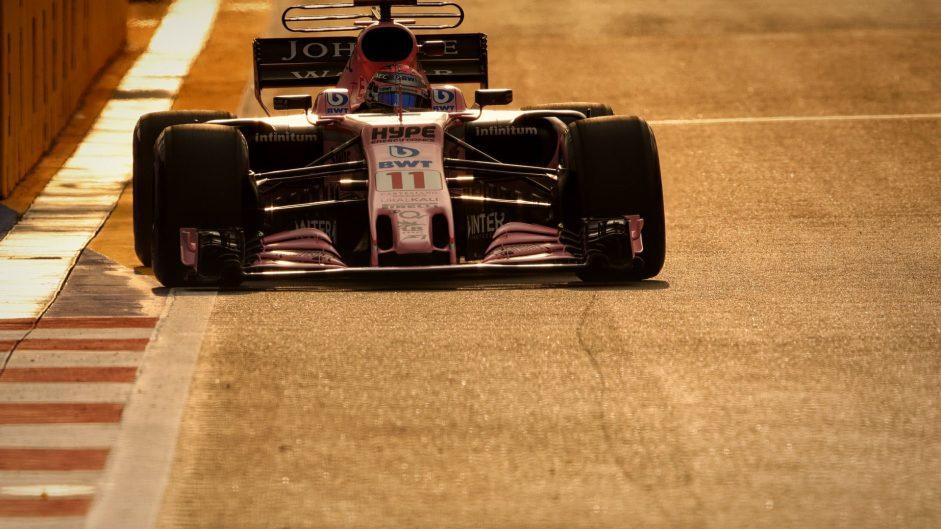Sergio Perez, Force India, Singapore, 2017