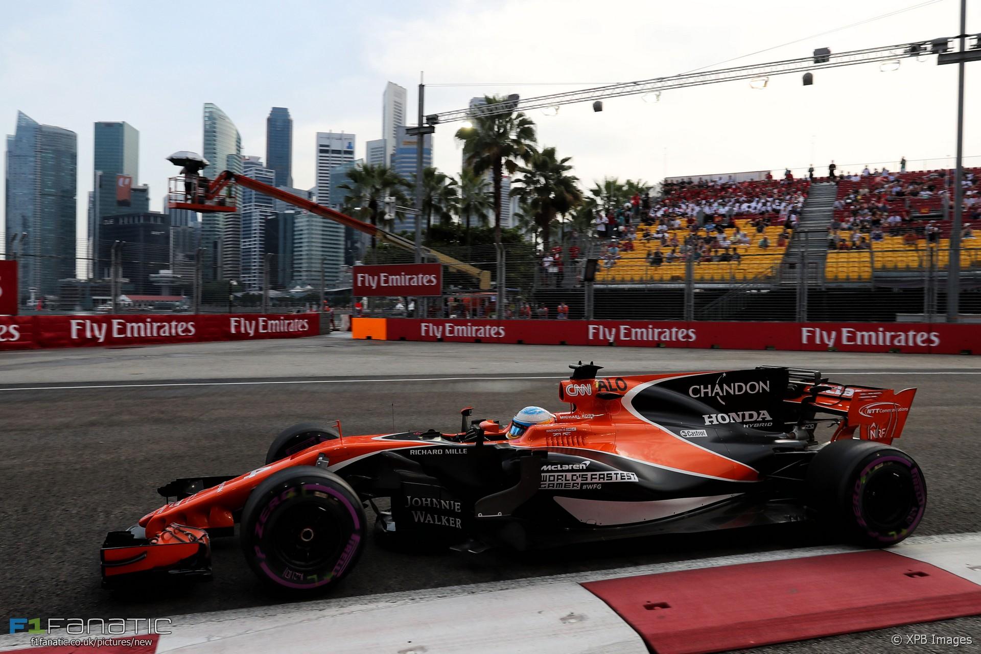 Fernando Alonso Mclaren Singapore 2017 F1 Fanatic