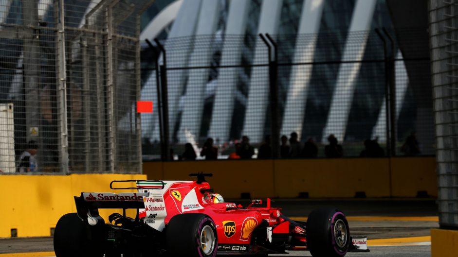 Sebastian Vettel, Ferrari, Singapore, 2017