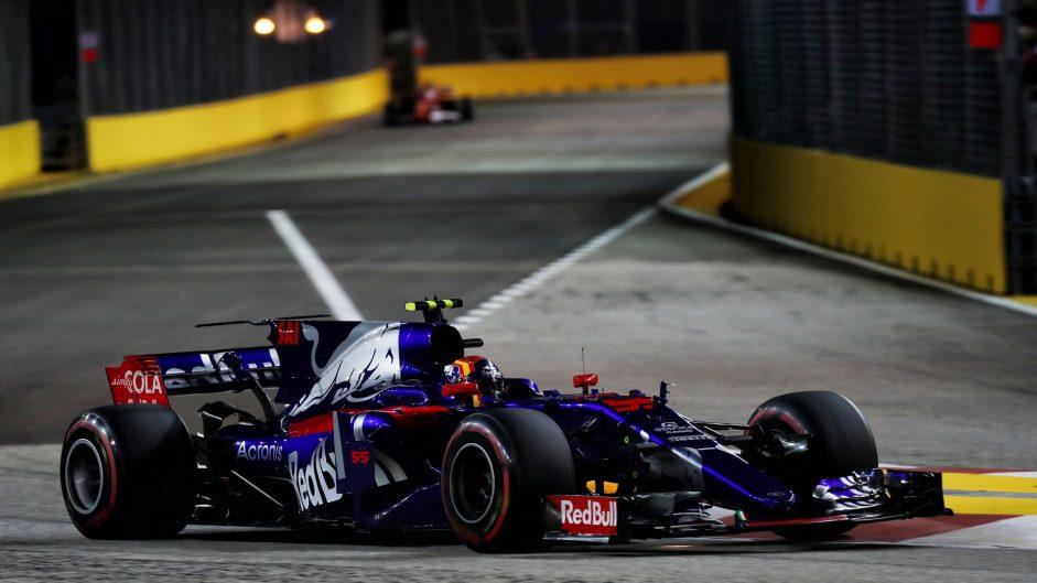 Carlos Sainz Jnr, Toro Rosso, Singapore, 2017