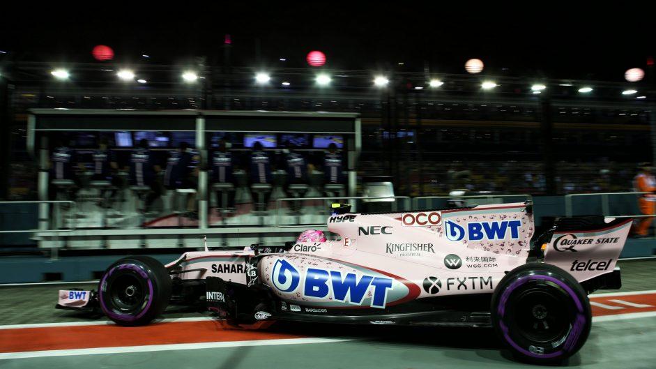 Esteban Ocon, Force India, Singapore, 2017