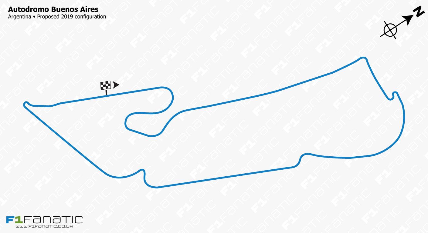 Autodromo Buenos Aires Juan y Oscar Galvez 2019 track redesign proposal