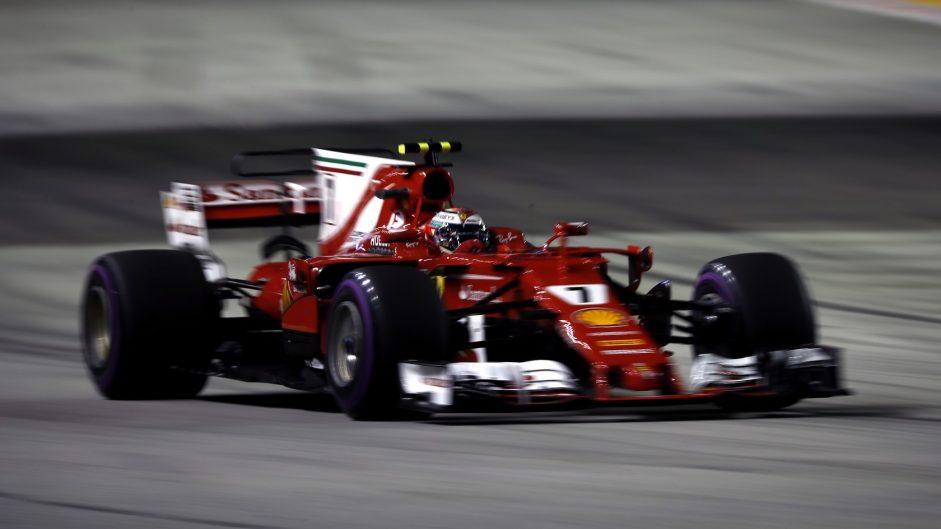 Kimi Raikkonen, Ferrari, Singapore, 2017