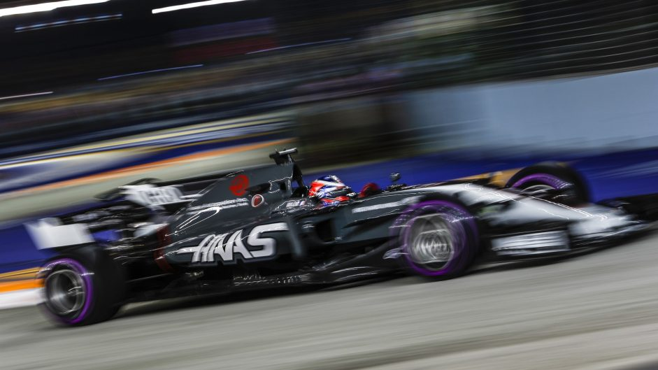 Romain Grosjean, Haas, Singapore, 2017