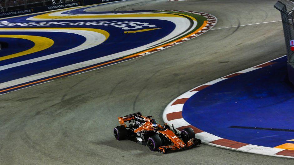 Fernando Alonso, McLaren, Singapore, 2017