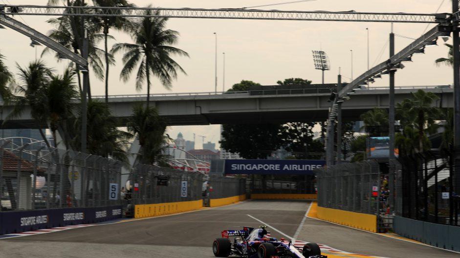 Sean Gelael, Toro Rosso, Singapore, 2017