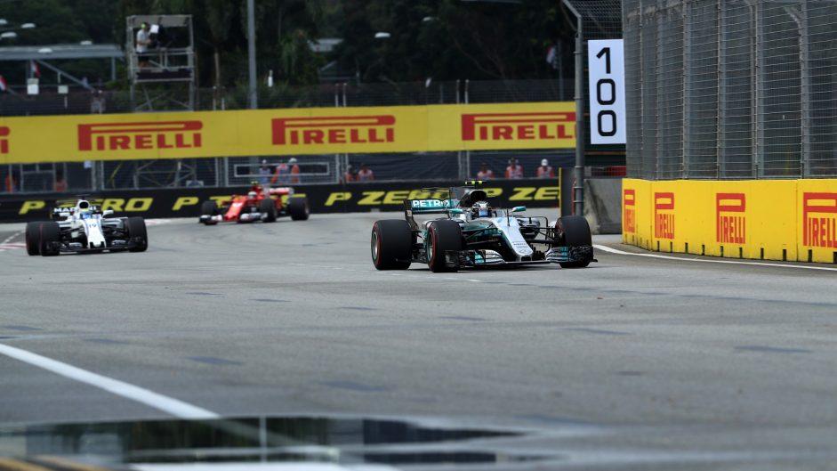 Valtteri Bottas, Mercedes, Singapore, 2017