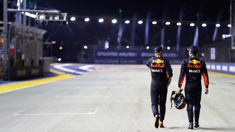 Max Verstappen, Daniel Ricciardo, Singapore, 2017