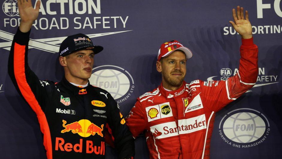 Max Verstappen, Sebastian Vettel, Ferrari, Singapore, 2017