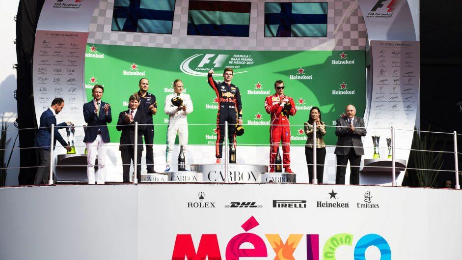 Podium, Autodromo Hermanos Rodriguez, 2017