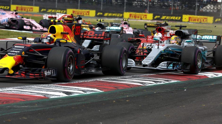 Max Verstappen, Lewis Hamilton, Sebastian Vettel, Autodromo Hermanos Rodriguez, 2017