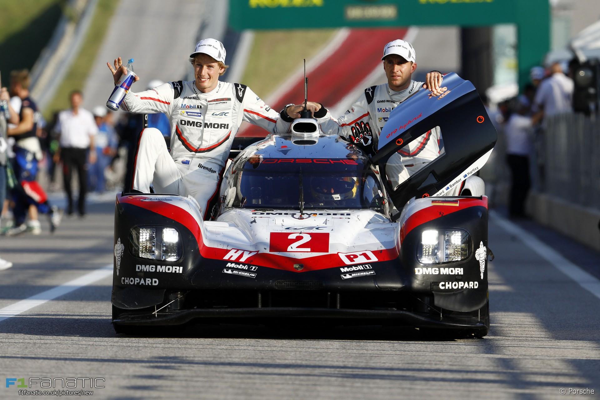 Brendon Hartley, Timo Bernhard, Earl Bamber, WEC, Porsche, Circuit of the Americas, 2017