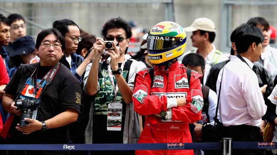 Ayrton Senna fan, Suzuka, 2017