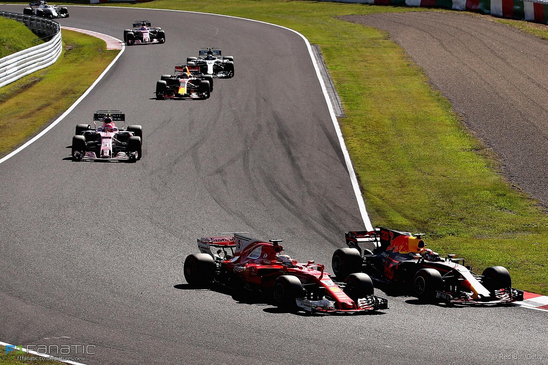Max Verstappen, Sebastian Vettel, Suzuka, 2017