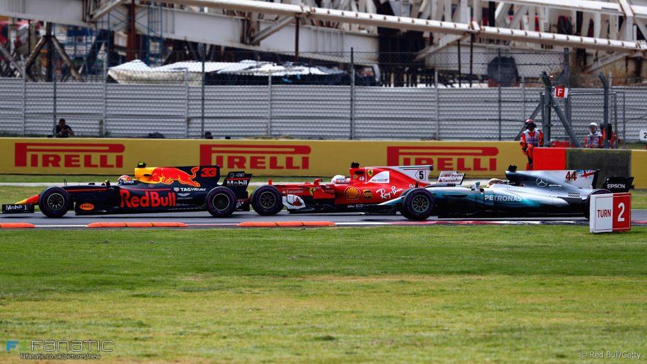 Max Verstappen, Sebastian Vettel, Lewis Hamilton, Autodromo Hermanos Rodriguez, 2017
