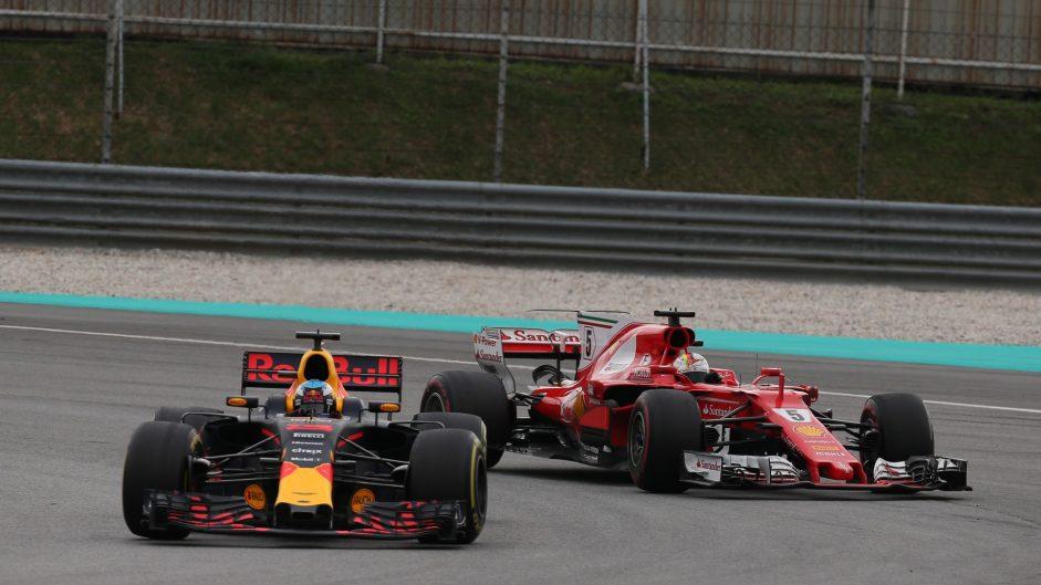 Daniel Ricciardo, Sebastian Vettel, Sepang International Circuit, 2017