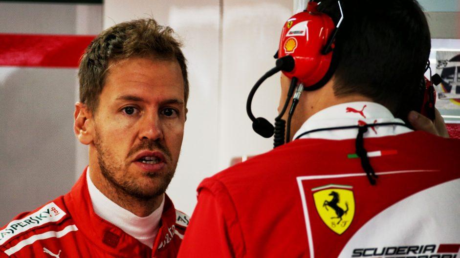 Vettel at risk of grid penalty after reprimand for missing anthem