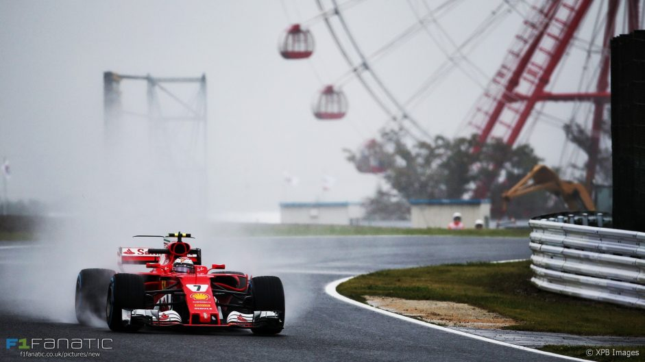 Only five drivers set times in wet second session