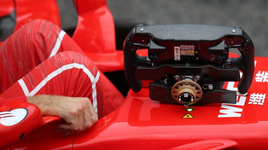 Hamilton queried the FIA over Vettel's steering wheel in Malaysia