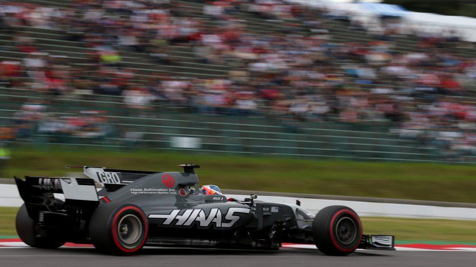 Romain Grosjean, Haas, Suzuka, 2017