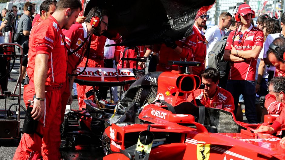 Ferrari's failed parts came from external suppliers
