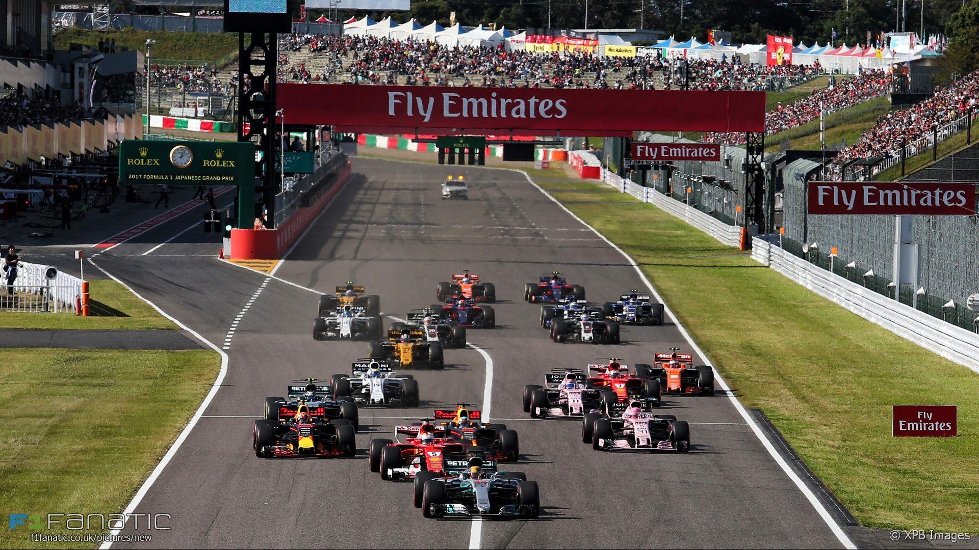 Výsledok vyhľadávania obrázkov pre dopyt GP F1 Japan 2017 start