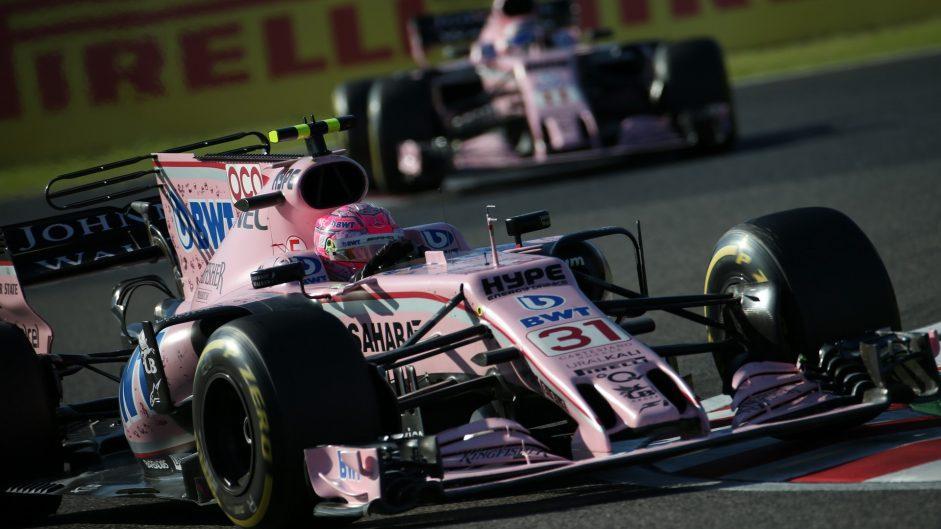 Esteban Ocon, Force India, Suzuka, 2017