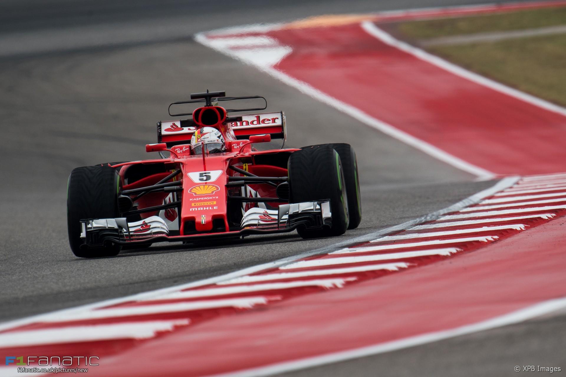 Sebastian Vettel, Ferrari, Circuit of the Americas, 2017