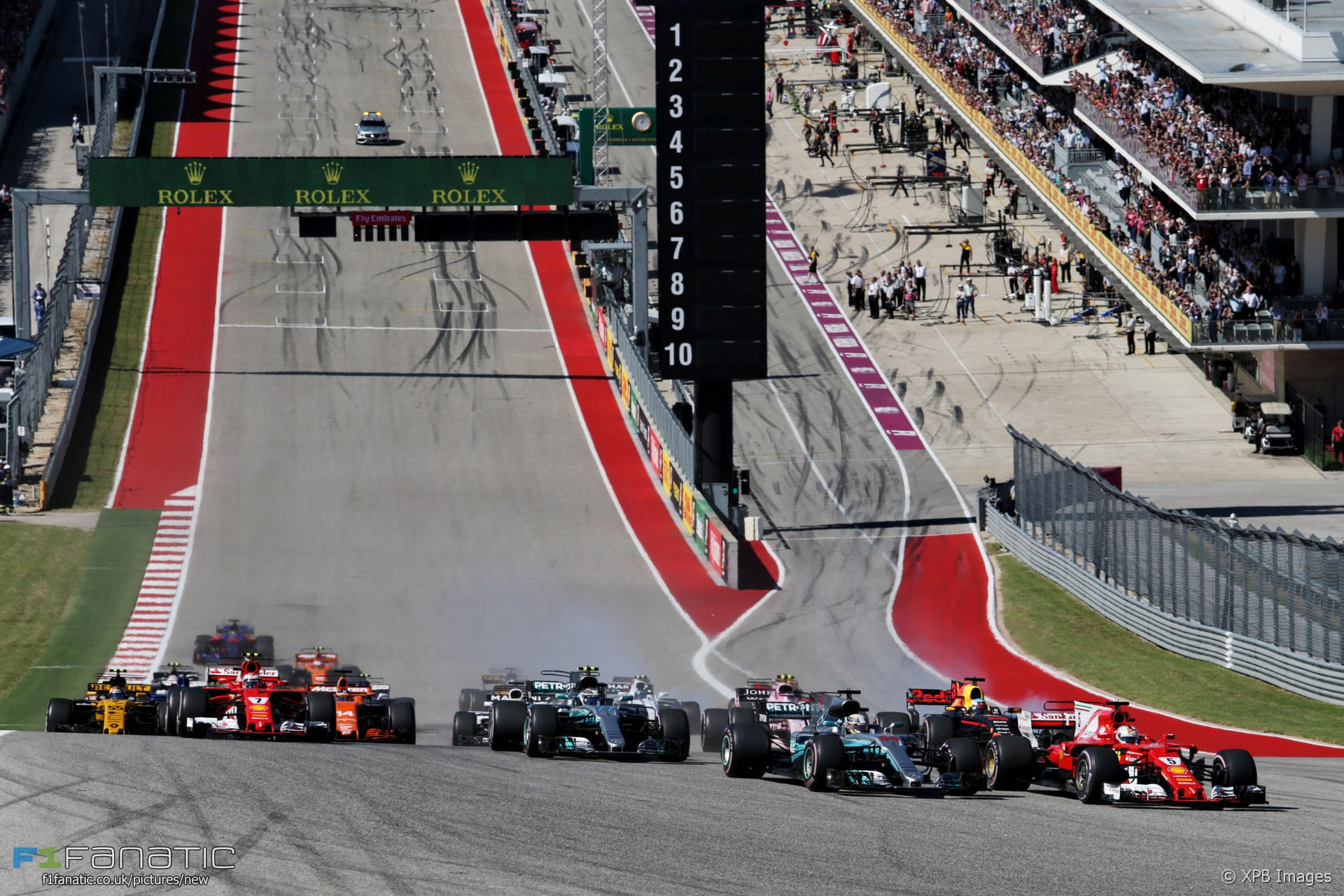Formula 1 Austin Tickets >> Start, Circuit of the Americas, 2017 · F1 Fanatic