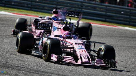 Esteban Ocon, Force India, Circuit of the Americas, 2017