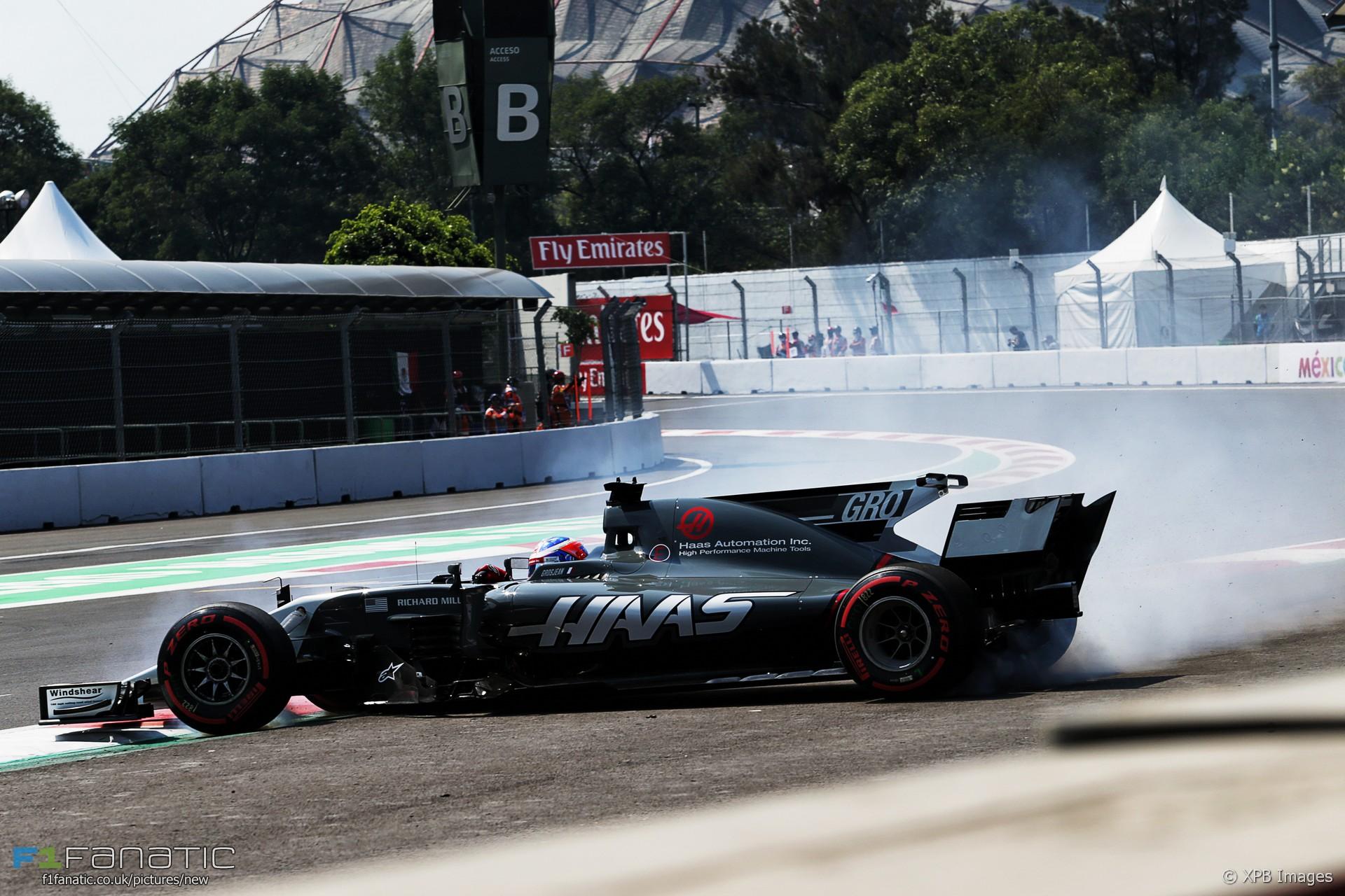 Romain Grosjean, Haas, Autodromo Hermanos Rodriguez, 2017
