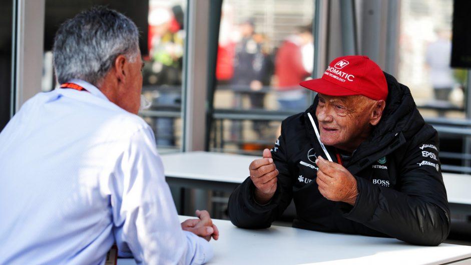 Chase Carey, Niki Lauda, Autodromo Hermanos Rodriguez, 2017