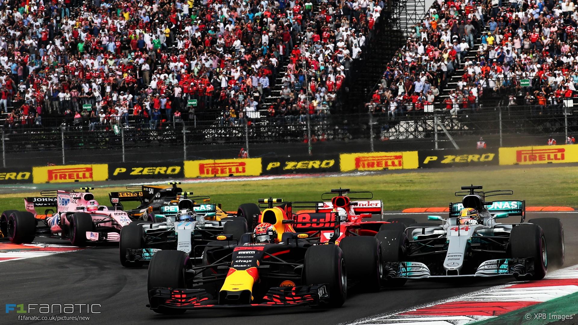 Max Verstappen, Lewis Hamilton, Sebastian Vettel, start, Autodromo Hermanos Rodriguez, 2017