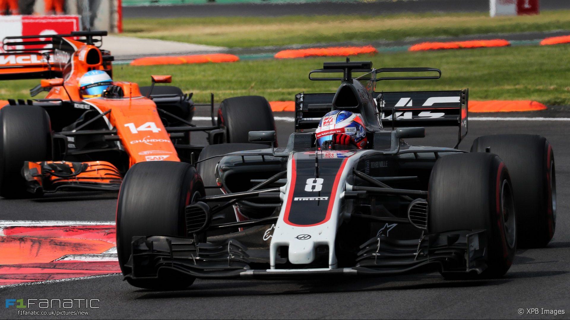 Romain Grosjean, Fernando Alonso, Autodromo Hermanos Rodriguez, 2017