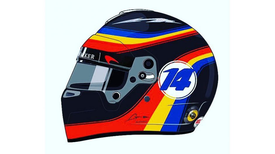 Alonso to use Indianapolis 500 helmet design for US GP