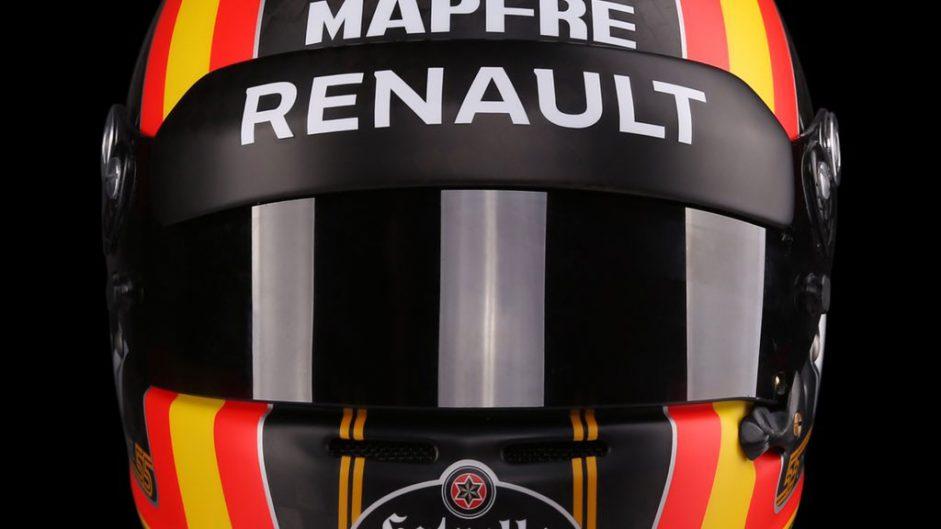 Carlos Sainz Jnr helmet, Renault, 2017