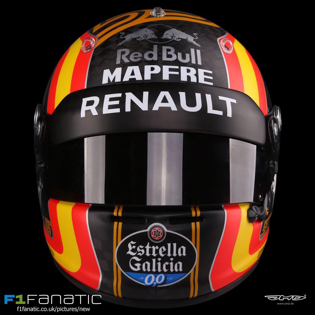 Helmet Career Renault: Carlos Sainz Jnr Helmet, Renault, 2017 · RaceFans