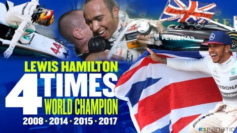 Lewis Hamilton four times world champion