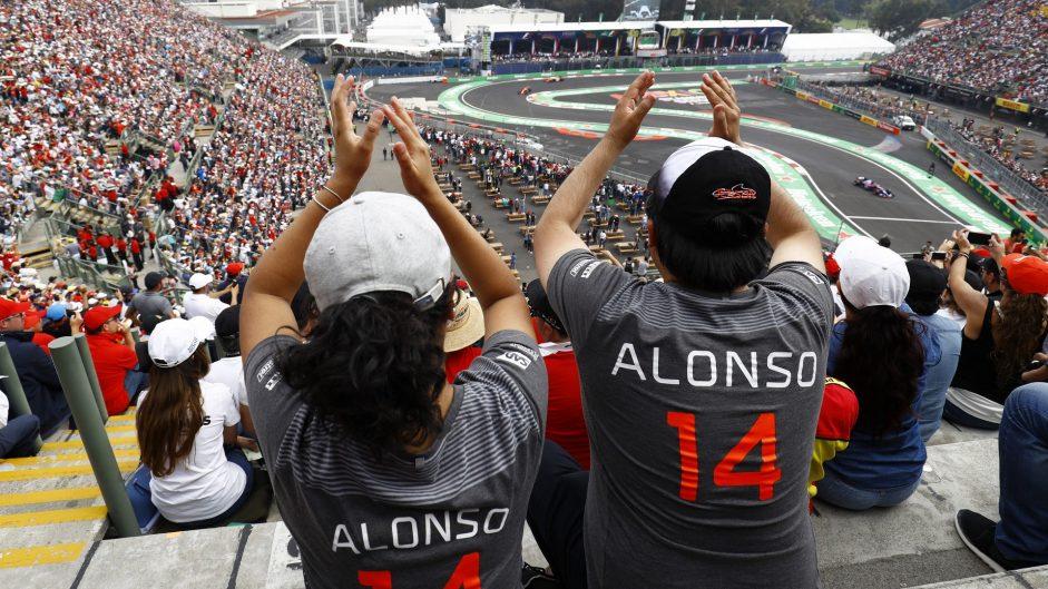 Fernando Alonso fans, McLaren, Autodromo Hermanos Rodriguez, 2017