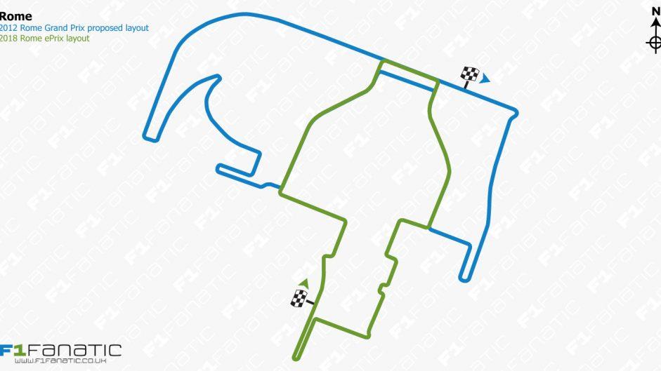 Formula E's Rome track follows part of unused 2012 F1 circuit