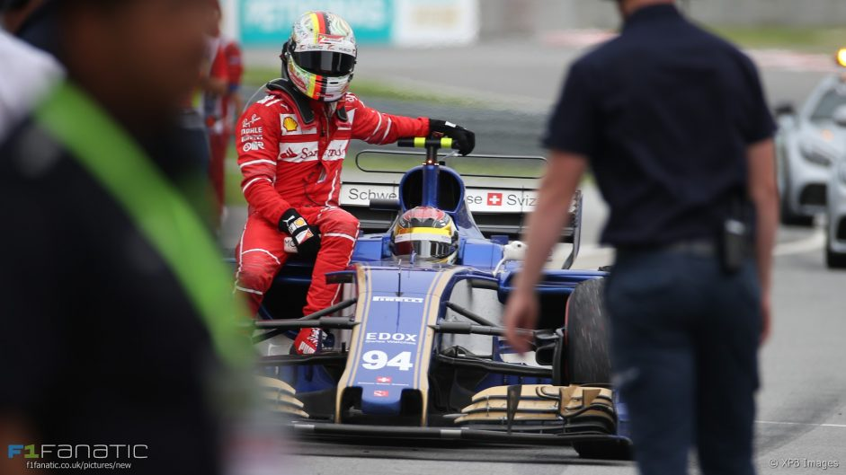 No investigation over Vettel's steering wheel error because it wasn't reported