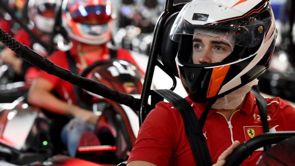 Charles Leclerc, Ferrari, Yas Marina, 2017