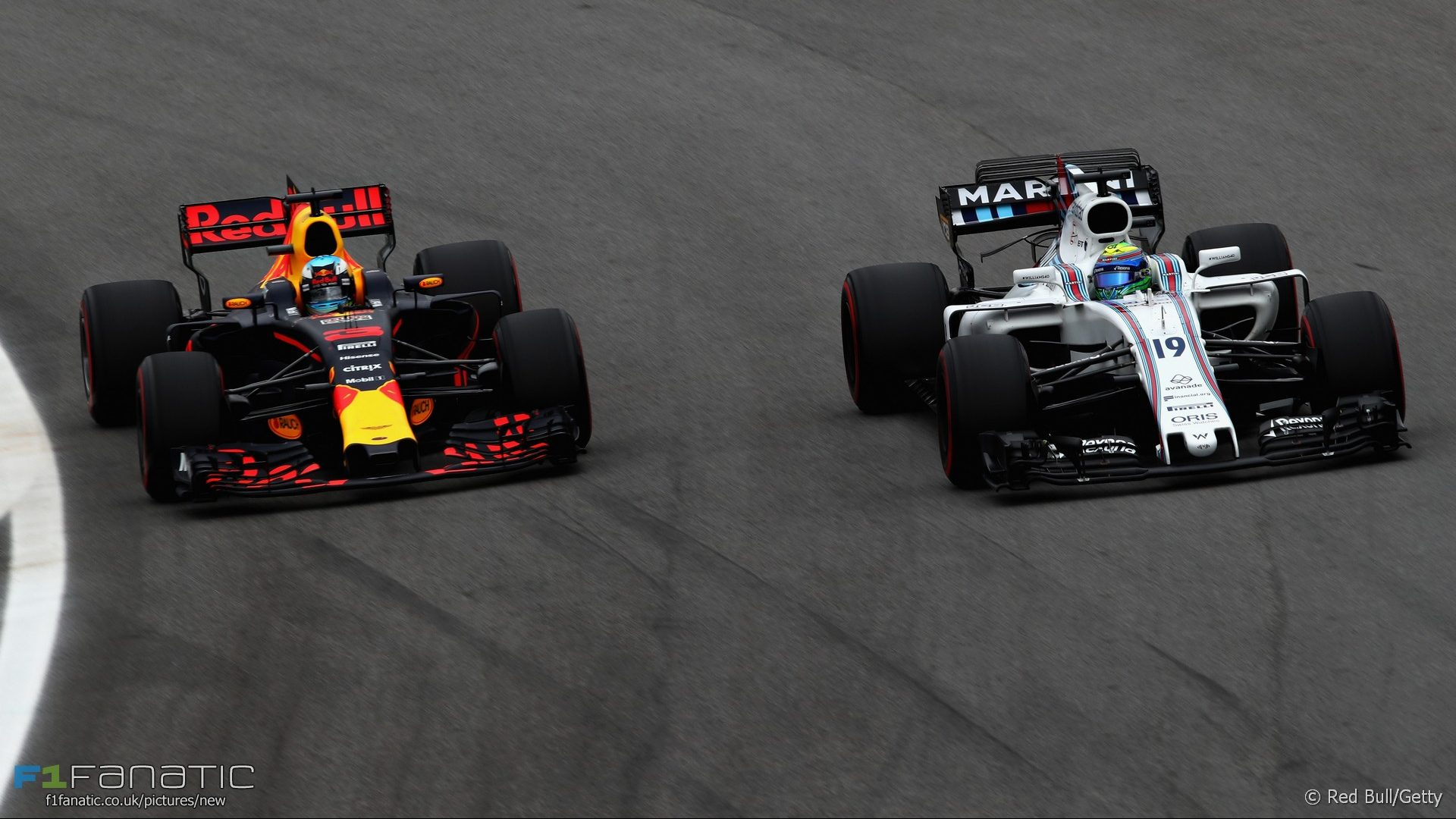 Daniel Ricciardo, Felipe Massa, Interlagos, 2017