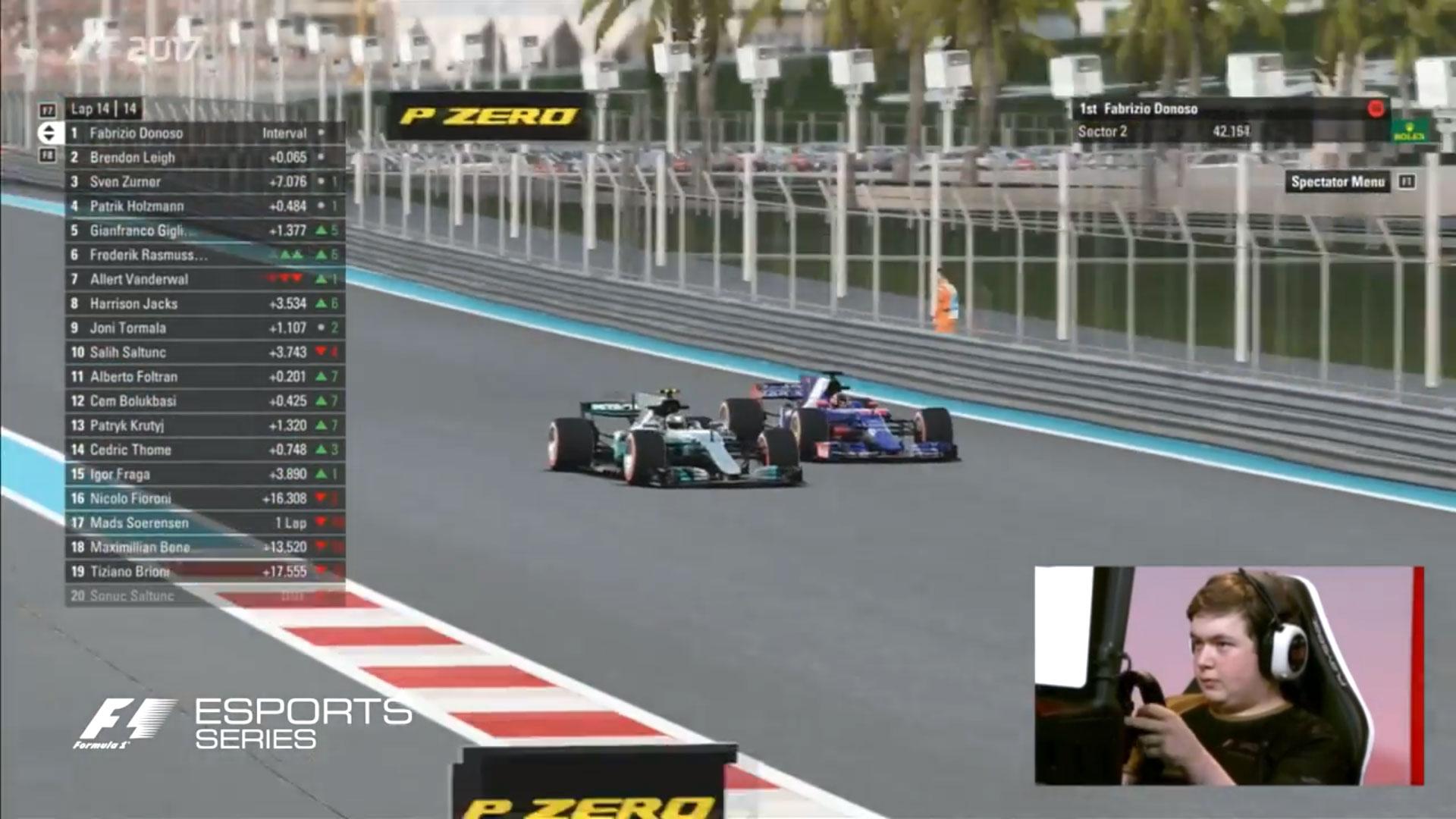 F1 Esports final, 2017