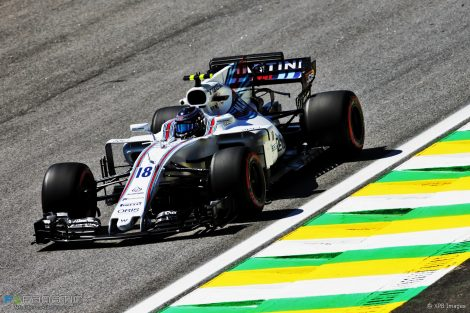 Lance Stroll, Williams, Interlagos, 2017
