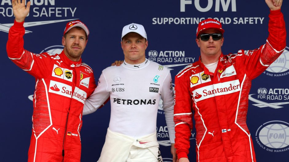 Bottas snatches pole from Vettel after Hamilton crashes