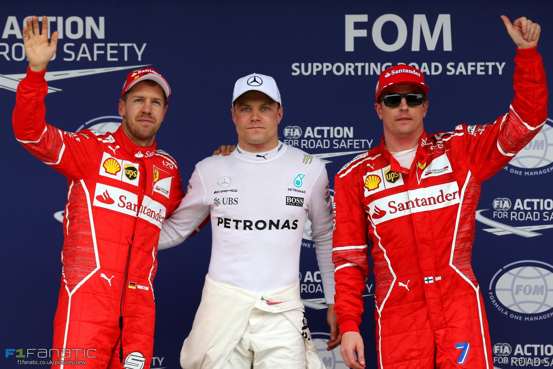 Sebastian Vettel, Valtteri Bottas, Kimi Raikkonen, Interlagos, 2017